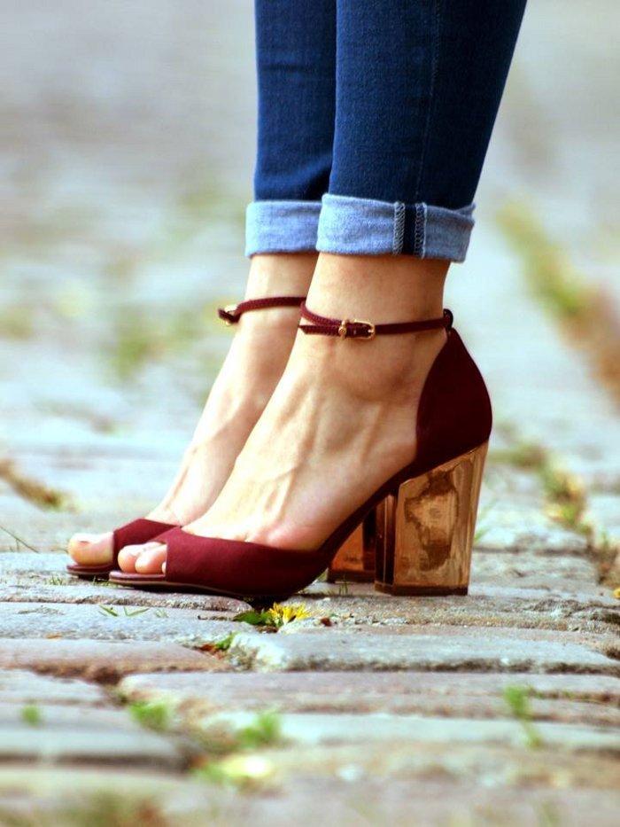 golden heels asos ridley jeans