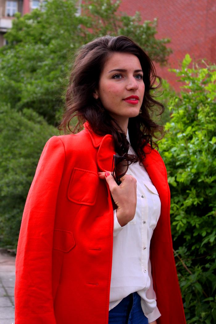 h&m bluse details coral coat vinate mantel
