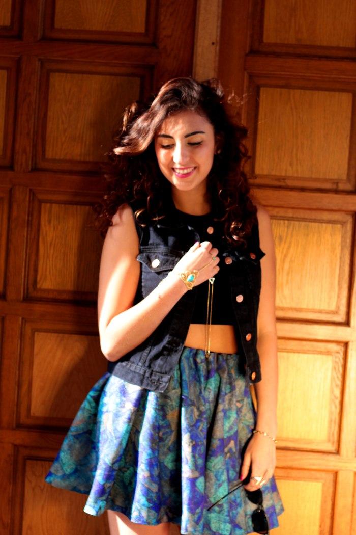 #FCfindyour look h&m trend skirt monki waistcoat half smile