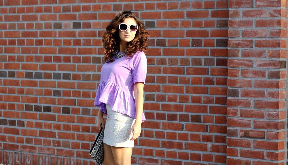 Im Anfang war die Sonnenbrille… // white leather skirt
