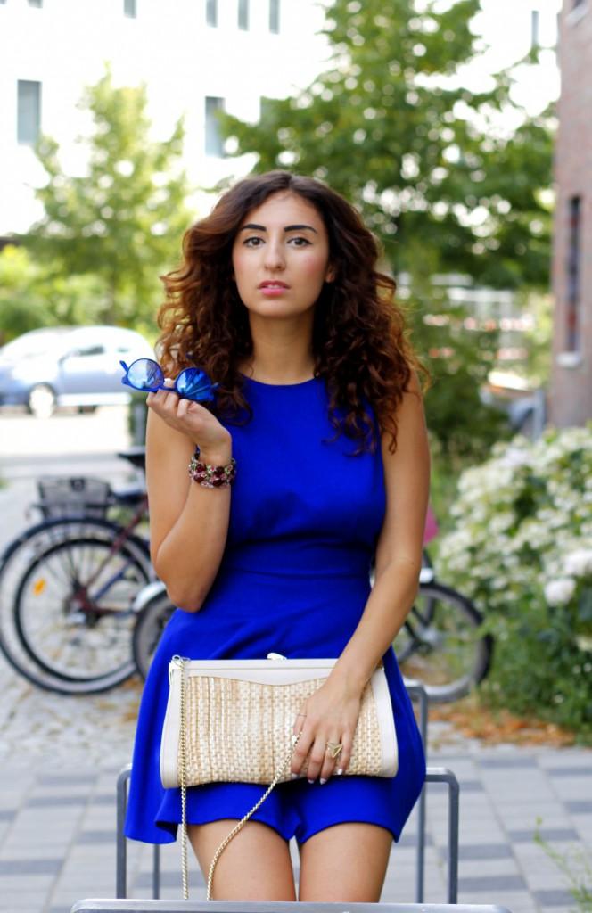 hot day // cobalt dress