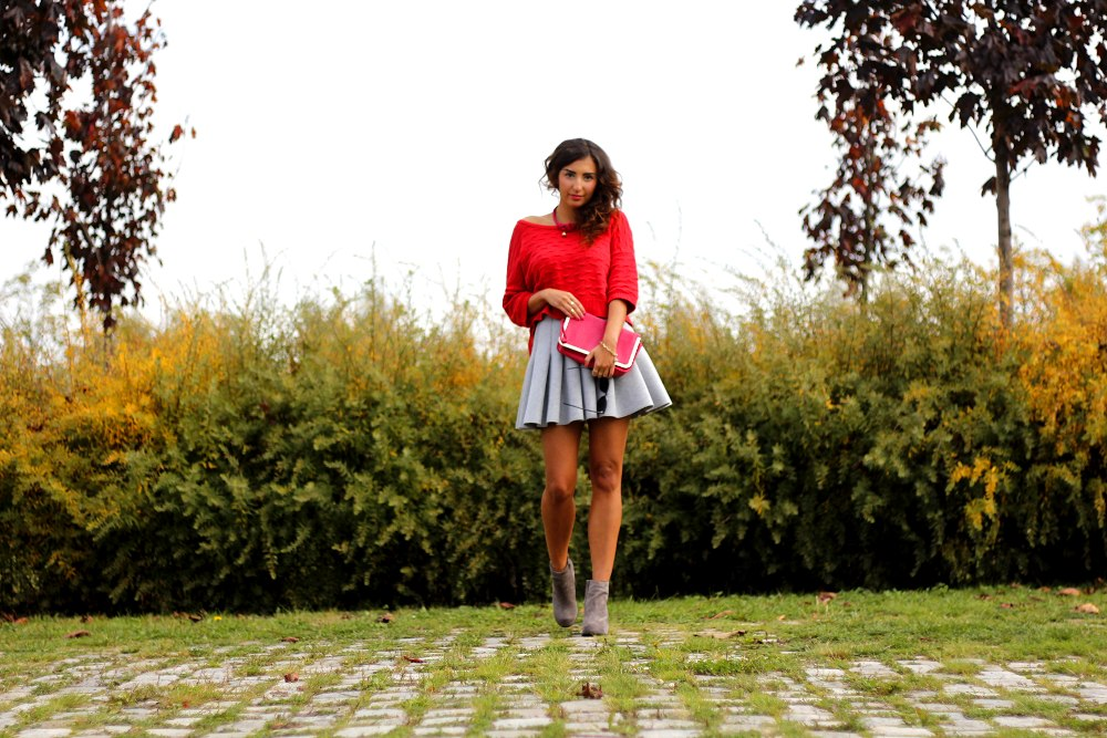 color me red (and pink) // Crop Sweater