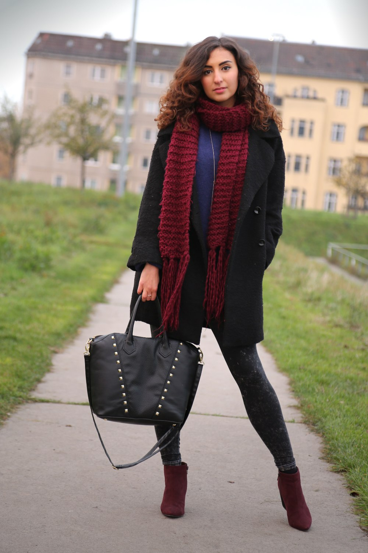 black oversize coat