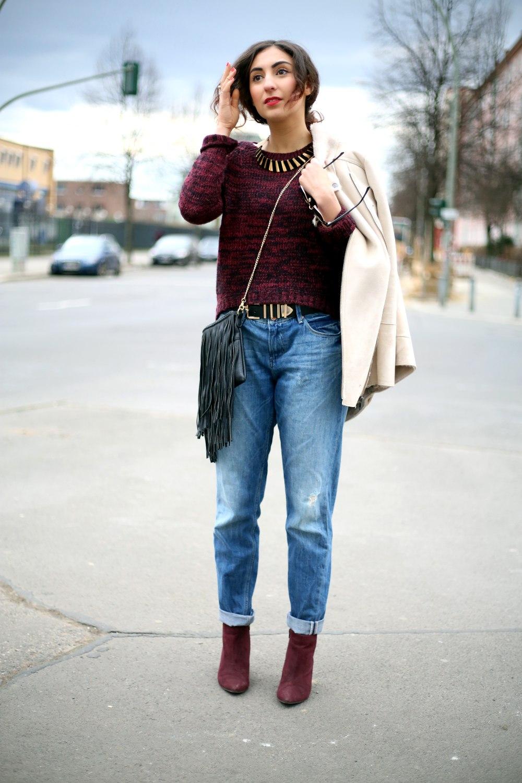 Boyfriend Jeans Outfit - Modeblog berlin