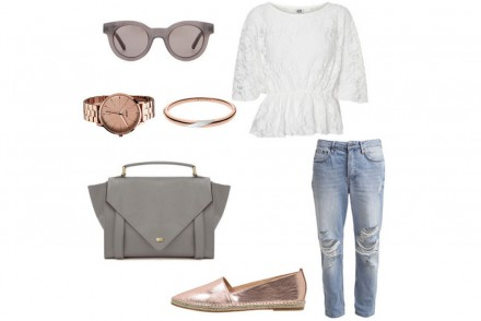 Outfit of the week - Peplum Top and Boyfriend Jeans