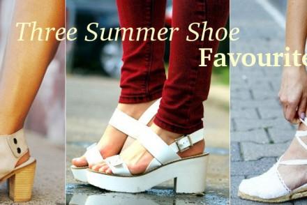 three summer shoes essentials