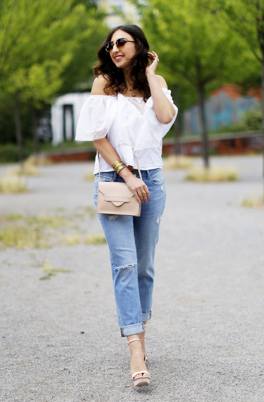 hoch komplett vintage off shoulder top boyfriend jeans dl1961 details4