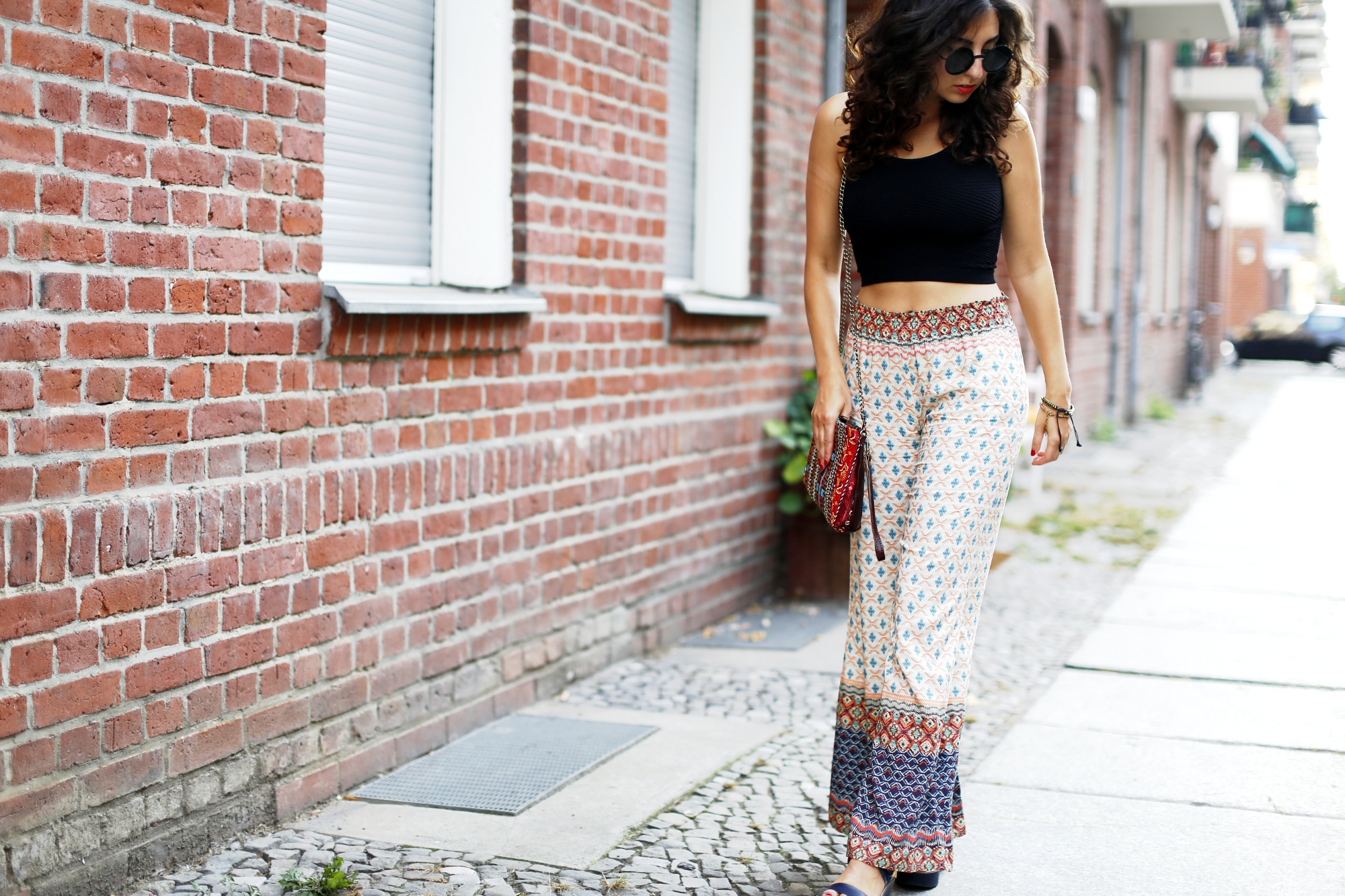 Boho Pants Hippie Pants wide Leg Palazzo Pants City Look Blogger Samieze Fashionblogger Outfitpost