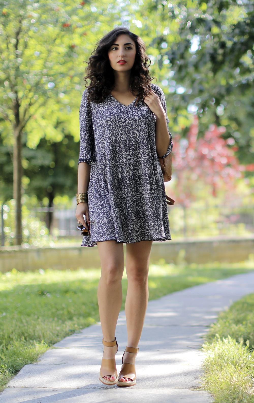 zara bast wedges summer look mango kleid mango a-line dress hippie kleid paisley print modeblog outfitpost