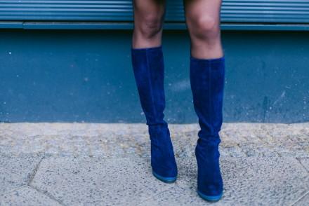 Blue Suede Boots Peter Kaiser Velver Boots Fashion Blog Blue Dress All Blue Look Modeblog Herbst Look Winter Outfit Kleid Samieze Fashionblogger Deutschland 4