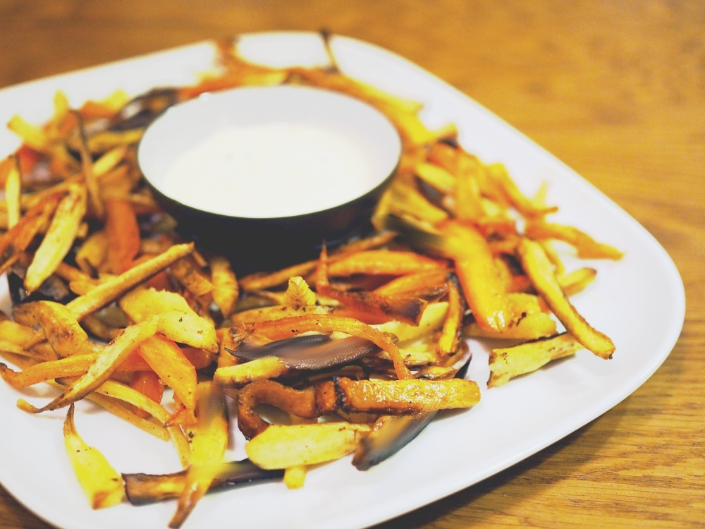Parsnip Fries with Curry Dip