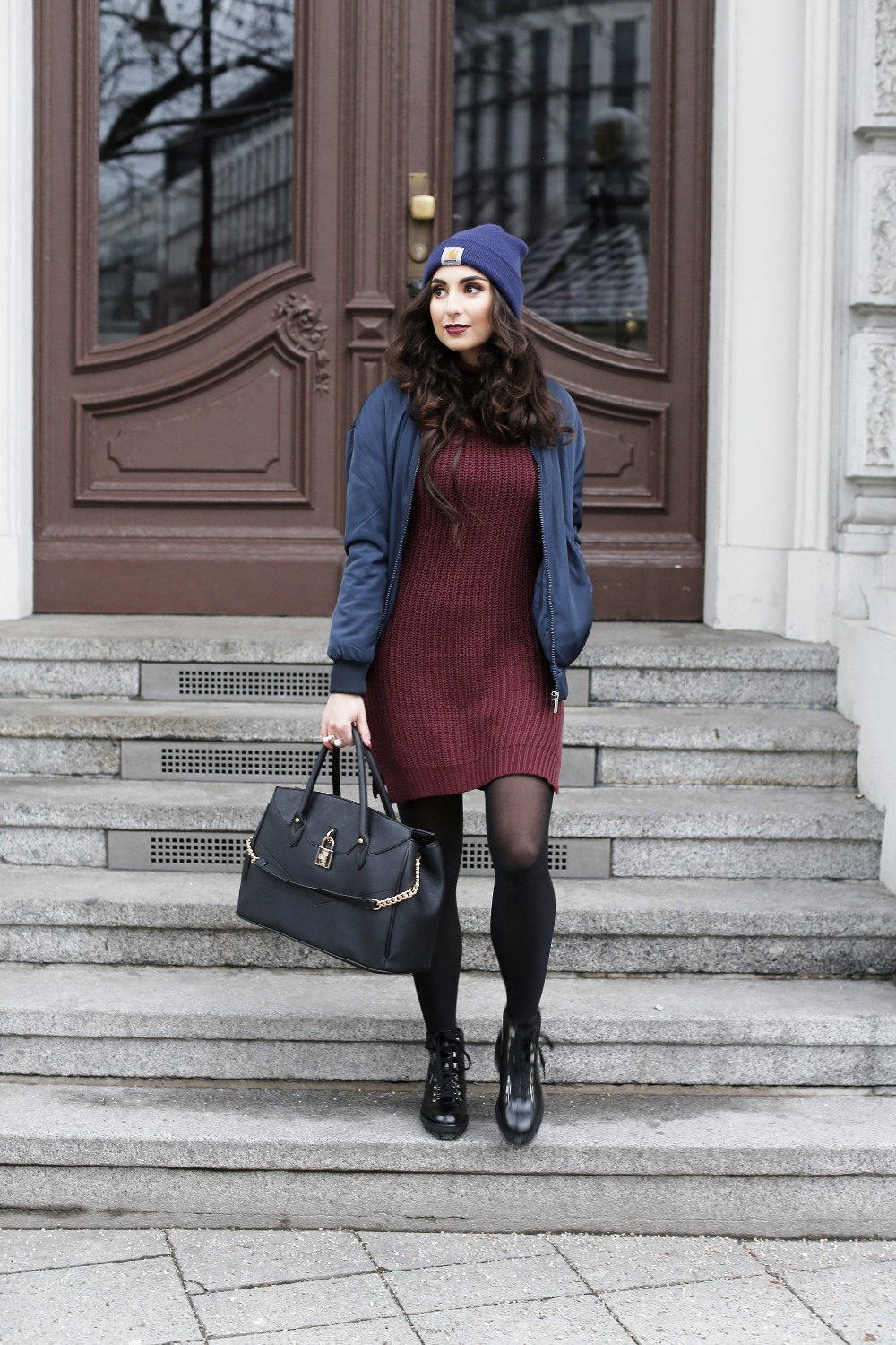 Uterque boots outfit fashionblog berlin for Bomber bag review