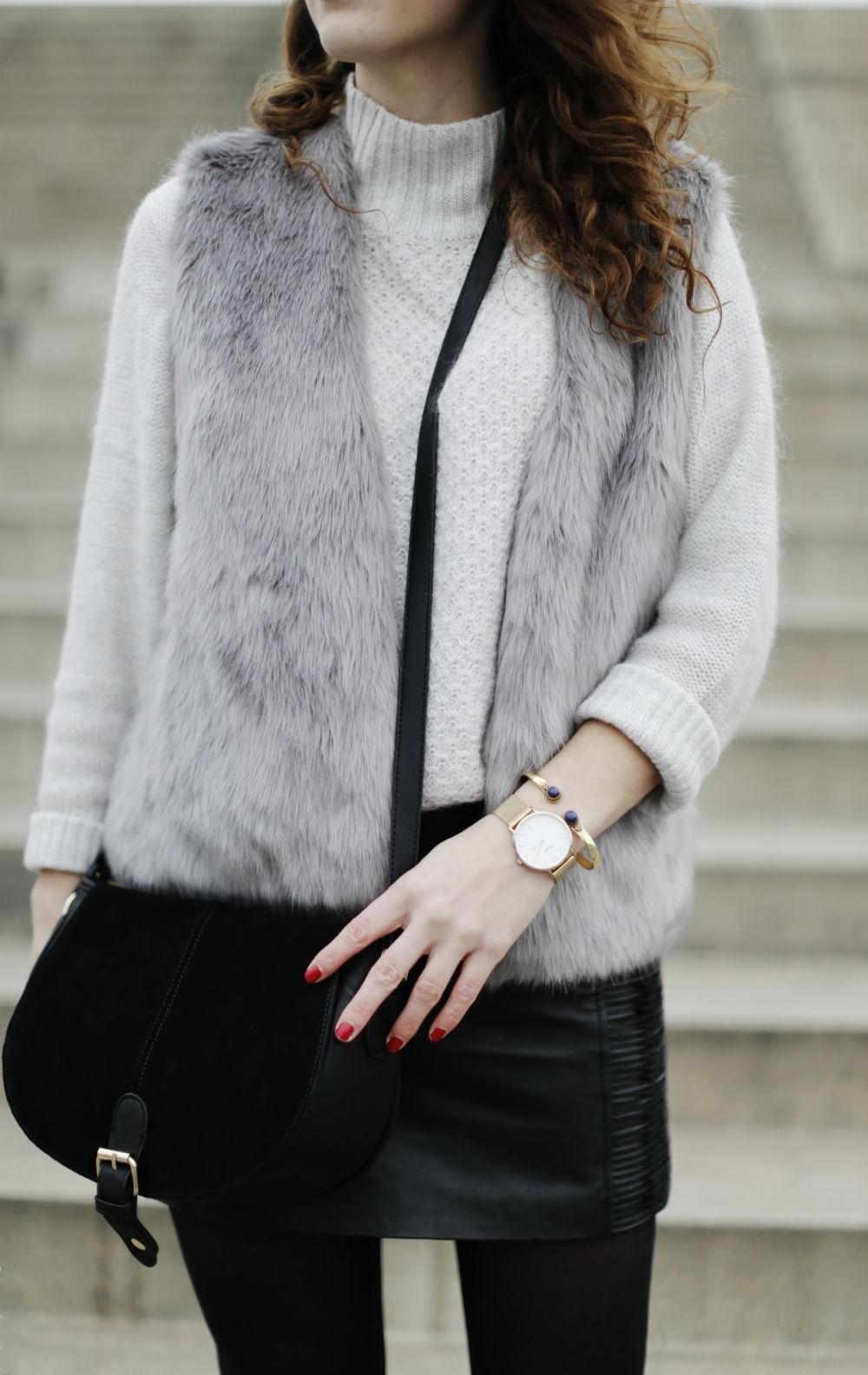 faux fur vest_details_hoch
