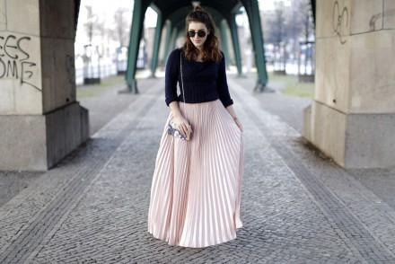 pleated maxi skirt ganz quer