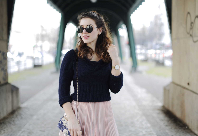 pleated maxi skirt quer halb