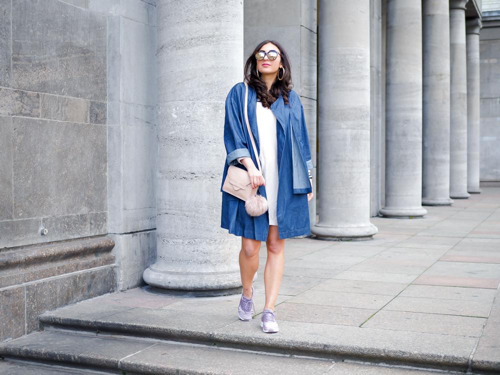 asos denim coat jeans mantel strick kleid knitted dress mango bag minimal modeblog spring look samieze fashionblog blogger deutschland streetstyle nike air thea pink mauve-9