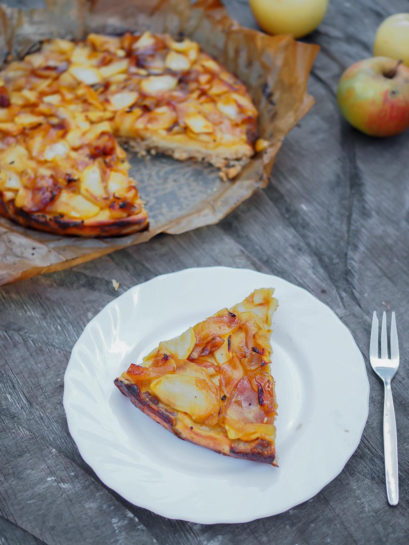 caramelized apple cheesecake recipe fall cake honey creamcheese tarte honig kösekuchen mit karamellisierten äpfeln herbstkuchen lifestyle foodblog rezept blog berlin samieze deutschland-2