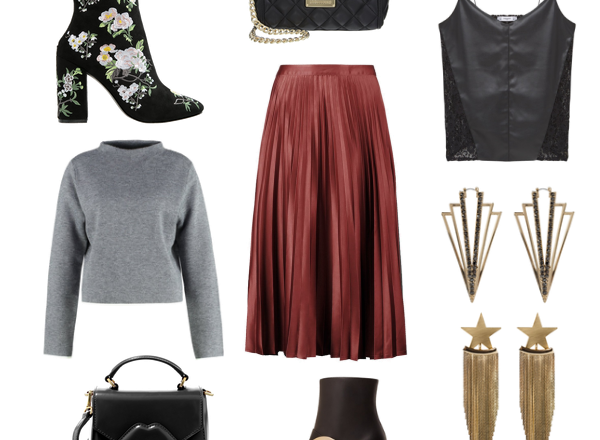3 ways to style a pleated midi sirt for fall winter midirock faltenrock