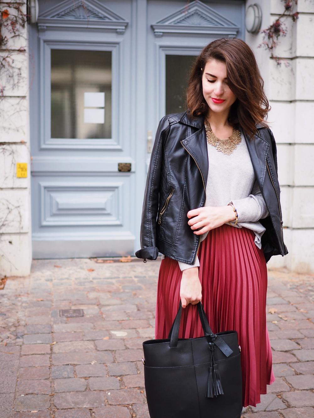 Satin Midi Skirt Fashion Blog From Berlin