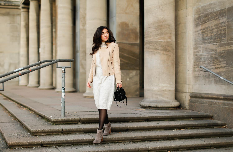 1 teil 5 styles beige leather jacket fashionblog berlin. Black Bedroom Furniture Sets. Home Design Ideas