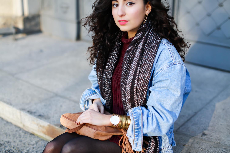 styling a vintage denim jacket outfit blog berlin. Black Bedroom Furniture Sets. Home Design Ideas