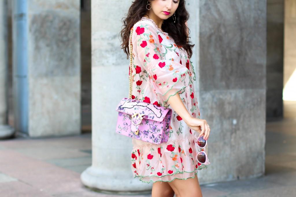 Organza Flower Dress // Preppy Outfit