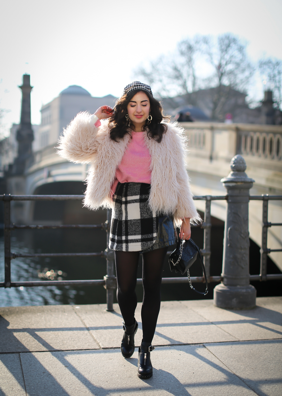 Styling A Checkered Mini Skirt Fashion Blog Berlin