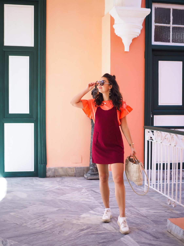 summer outfit pinafore dress new look style latzkleid kombinieren holiday look urlaubslook kuba havanna samieze berlin fashionblogger deutschland