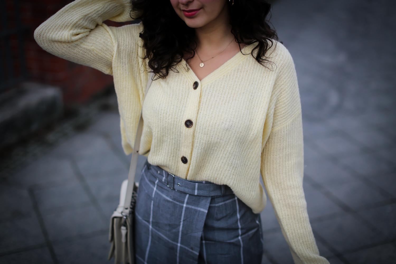 yellow cardigan wrap skirt nakd boots winter look-12