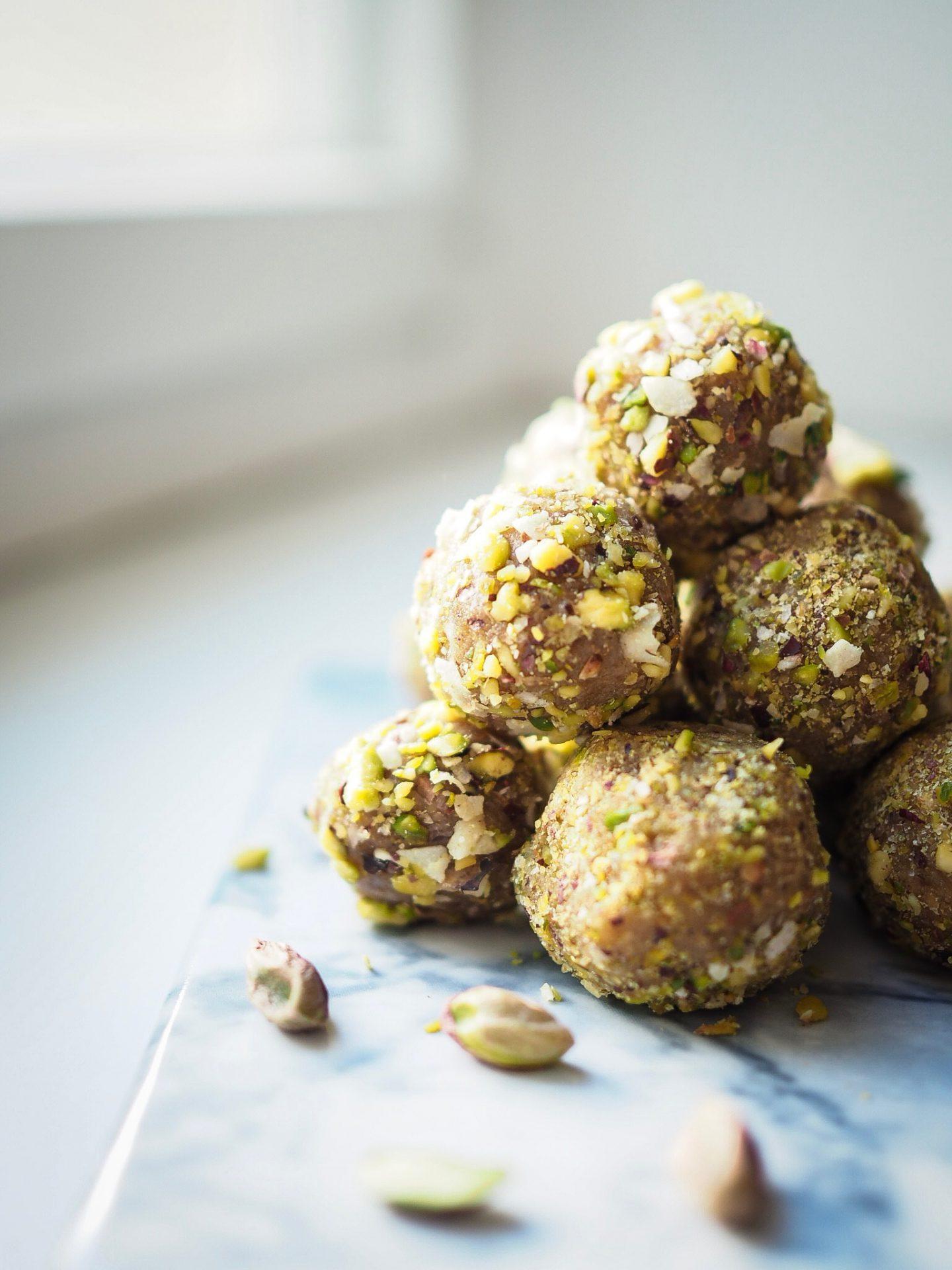 Salted Caramel Almond Energy Balls