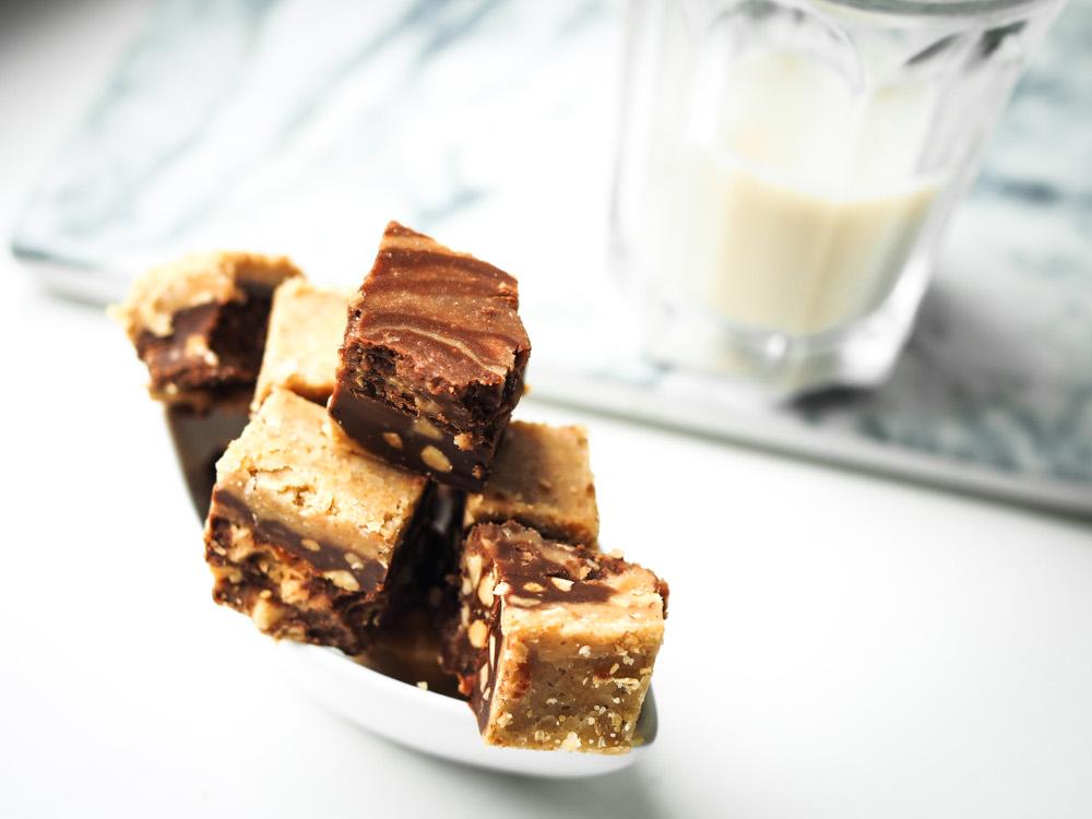 crunchy peanut butter fudge vegan no bake recipe